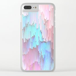 Pastel Glitches Fall Clear iPhone Case