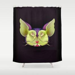 Bird Cat Shower Curtain