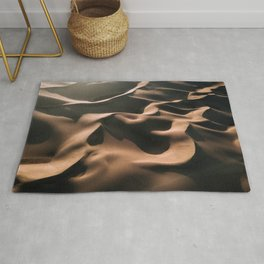 Lovers in the Sand - Aerial Landscape Photography Rug