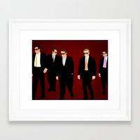 reservoir dogs Framed Art Prints featuring Reservoir Dogs by Tom Storrer