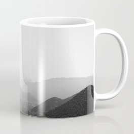 Black and white Atlas Mountains of Ourika Morocco Coffee Mug