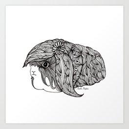 BEAUTIFUL GUINEA PIG Art Print