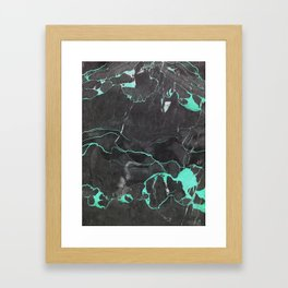 Grey and Blue Marble Framed Art Print