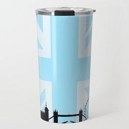 London Sites Skyline and Blue Union Jack/Flag Travel Mug