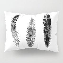 Feather Trio | Black and White Pillow Sham
