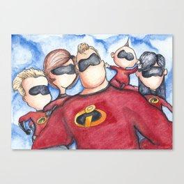 Family Portrait --- The Incredibles Canvas Print