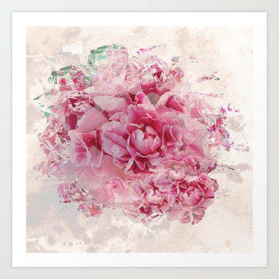 Sweet Peonies Art Print