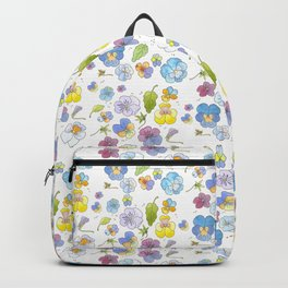 Blue and Purple Pansies Backpack
