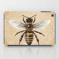 bee iPad Cases featuring Bee by Paper Skull Studios