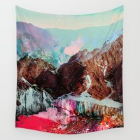 tchmo Wall Tapestries featuring Untitled 20110310e (Landscape) by tchmo