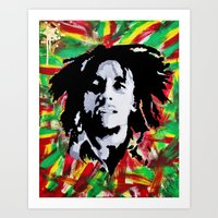 marley Art Prints featuring MARLEY by Kofi Ofori