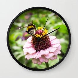 bumble-bee at work Wall Clock