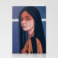 pain Stationery Cards featuring Pain by Conrado Salinas