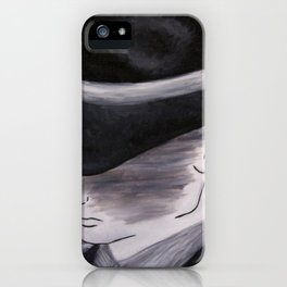 The Hatted Man iPhone Case