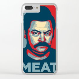 Ron Swanson Clear iPhone Case