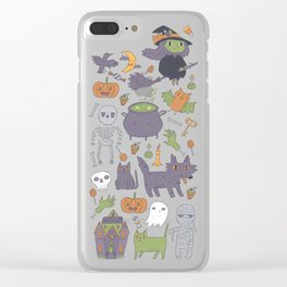 Cute Happy Halloween Clear iPhone Case