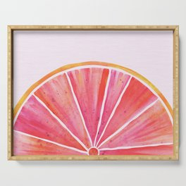 Sunny Grapefruit Watercolor Serving Tray