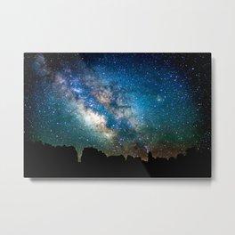 The Milky Way Mountains Metal Print