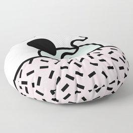Funky eighties fresh colors graphic memphis design Floor Pillow