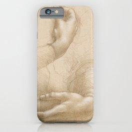 Hand studies - Leonardo Da Vinci iPhone Case