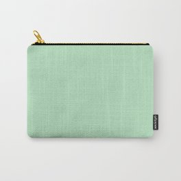Mono Color Light Green Carry-All Pouch