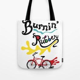 Burning Rubber bike Tote Bag