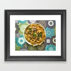 Asian Noodles Framed Art Print
