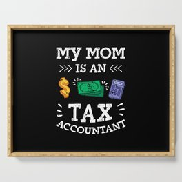 Calculator Accounts Paypable Tax Accountant Bookeeper Mom  Serving Tray