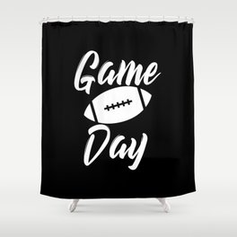 Game Day Football Shower Curtain