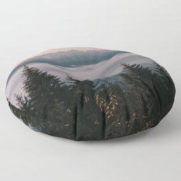 Faraway Mountains - Landscape and Nature Photography Floor Pillow