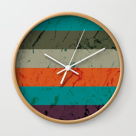 Marble Tiles Wall Clock