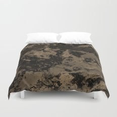 Galaxy in Taupe Duvet Cover