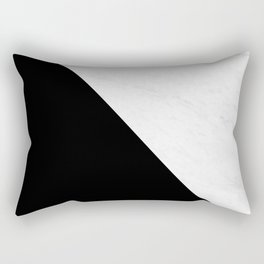 Marble And Black Diagonal Rectangular Pillow
