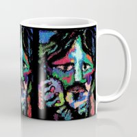 dave grohl Mugs featuring Self portrait as Dave Grohl by brett66