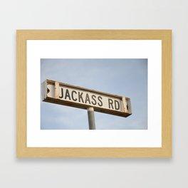 Jackass Rd Framed Art Print