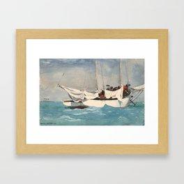 Winslow Homer Key West, Hauling Anchor Framed Art Print