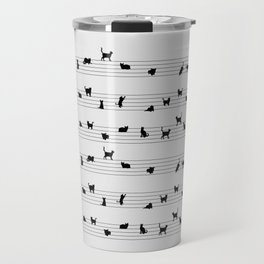 Cute Conceptual Cat Song Music Notation Travel Mug