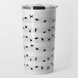 Cute Conceptual Cat Song Music Notation Travel Mug