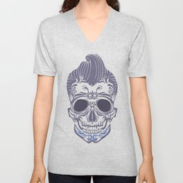 Skull of the sixties Unisex V-Neck