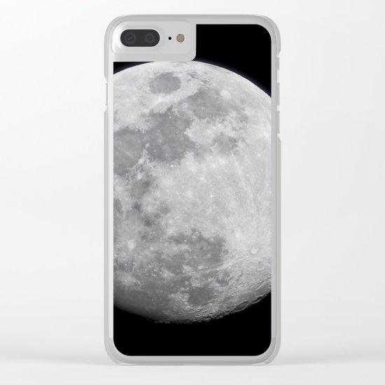 Moon #lunar Clear iPhone Case