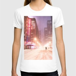 Snowstorm in New York City T-shirt