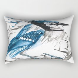 True Blue Jay Rectangular Pillow