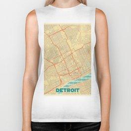 Detroit Map Retro Biker Tank