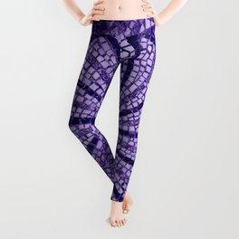 Ultra Violet Stone Tiles 18-3838 Leggings