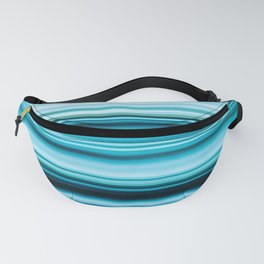 Turquoise Color Abstract Horizontal Lines #decor #society6 #buyart Fanny Pack