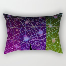 A Futurist's Starry Night Rectangular Pillow