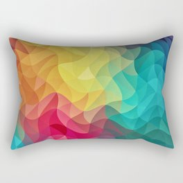 Abstract Color Wave Flash Rectangular Pillow