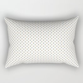 Fox Forest Friends All Over Repeat Pattern on White Rectangular Pillow