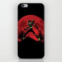 neon genesis evangelion iPhone & iPod Skins featuring Neon Genesis Evangelion Unit 01 - Hill Top by kamonkey