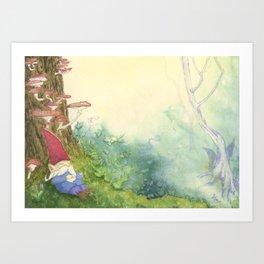 The Sleeping Gnome Art Print